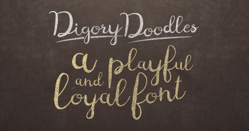 Digory Doodles font sample
